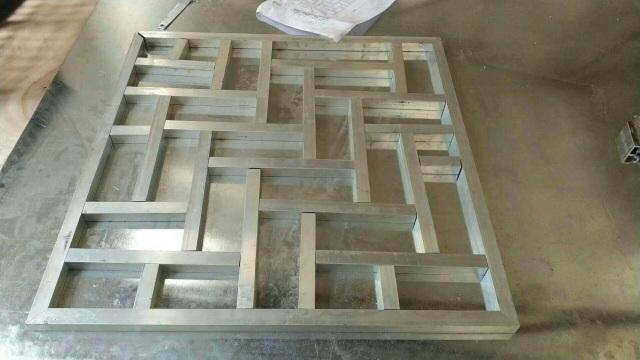 25*25中式铝通焊接窗花半成品