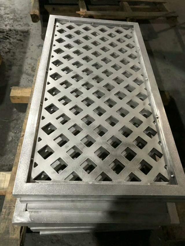 超厚雕刻铝板镶嵌铝管边框