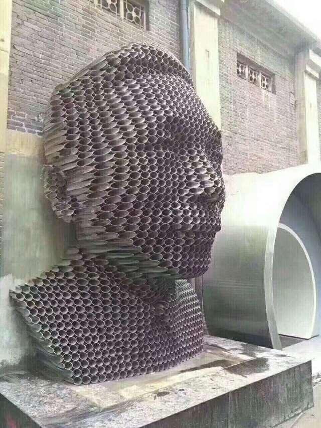 铝圆管组合人像工艺品