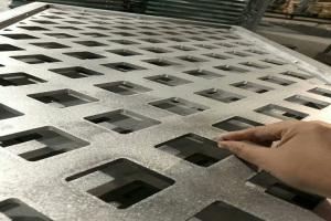 10mm厚铝板雕刻菱形孔组装铝合金花格