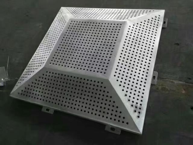 立体梯形冲孔造型铝单板