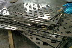 20mm厚铝板雕刻菱形孔