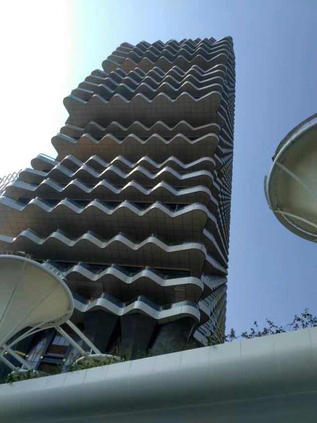 珠海梧桐树大厦整体外墙弧形铝单板