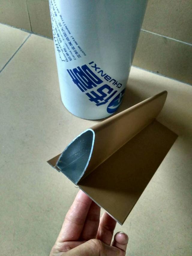 带封板的子弹头铝挂片型材