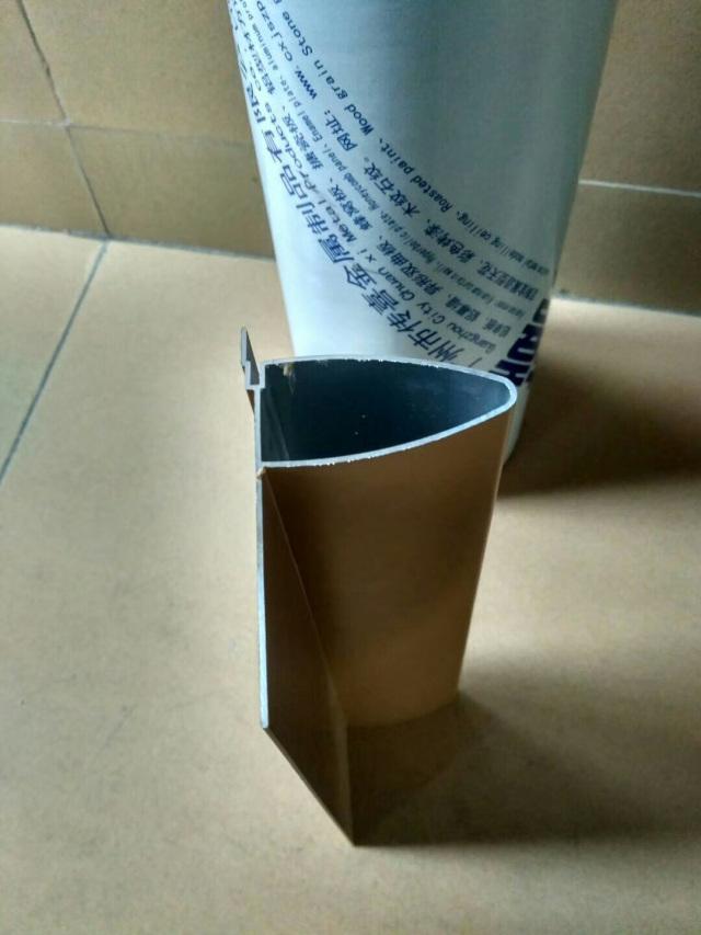 带封板的子弹头铝挂片型材截面细节