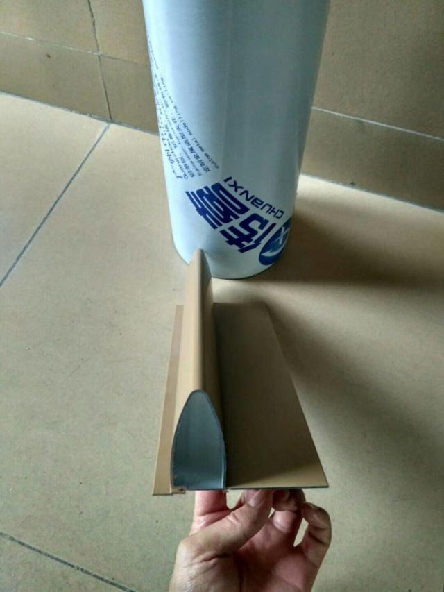 带封板的子弹头铝挂片型材正面