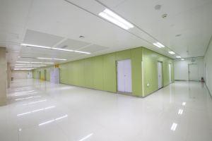 医院墙面绿色洁净烤瓷铝单板