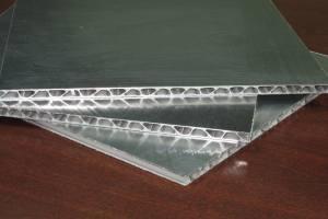 铝瓦楞复合板平板截面结构
