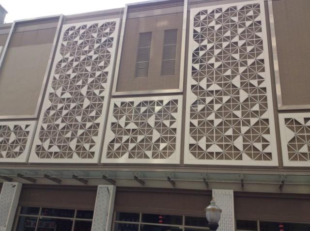 户外雕刻铝单板墙面