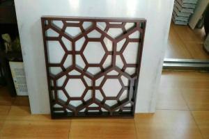 六边形孔花格铝窗花