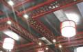 中式饭店红木色吊顶铝花格