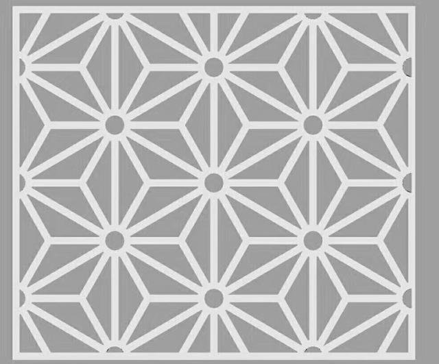 三角形中空铝合金花格设计图案