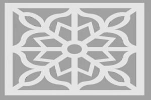 雕刻花朵形状铝窗花设计图案