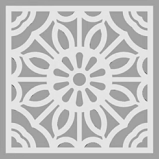 太阳花图案雕刻穿孔铝窗花设计图案