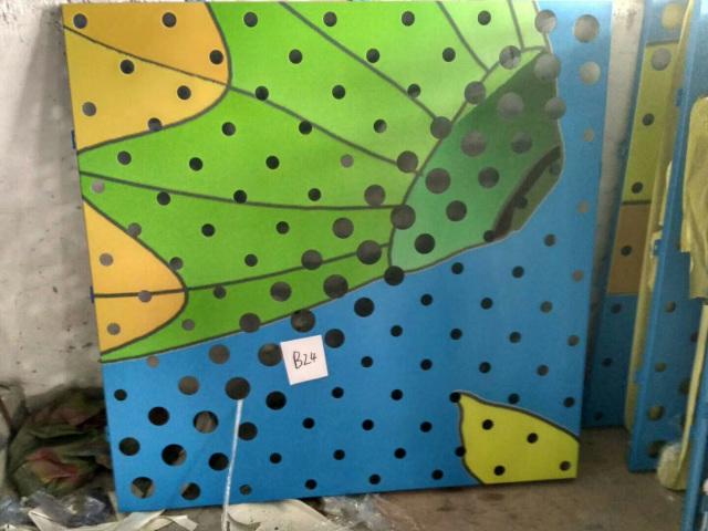 幼儿园冲孔喷绘图案铝单板