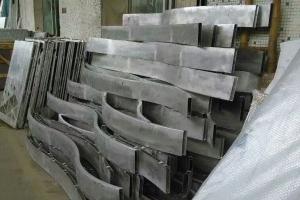 弧形铝方通半成品