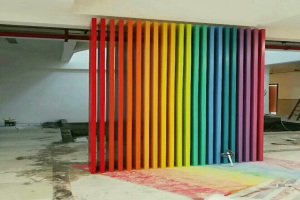 室内七色彩虹渐变铝合金方通