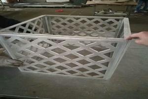 雕刻菱形孔铝合金空调罩
