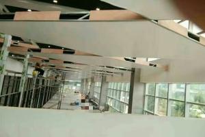 铝单板吊顶主龙骨层 铝单板钢管骨架层