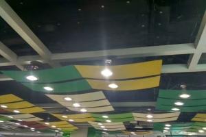 开放式弧形吊顶双色三色铝单板