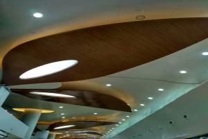 翅膀形木纹吊顶铝单板