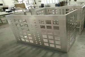 方形冲孔铝合金空调外罩