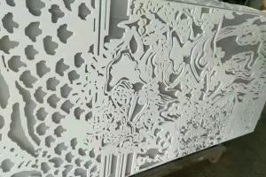 12mm厚铝板白色雕刻铝单板