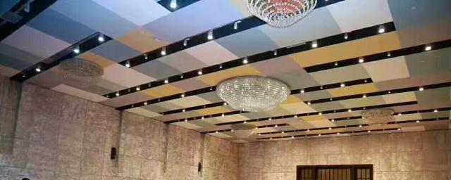 多色混装拼图铝单板吊顶
