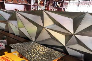 三角尖锥形凹凸造型铝单板