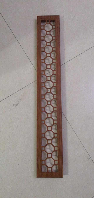 木紋色雕花鋁合金出風口