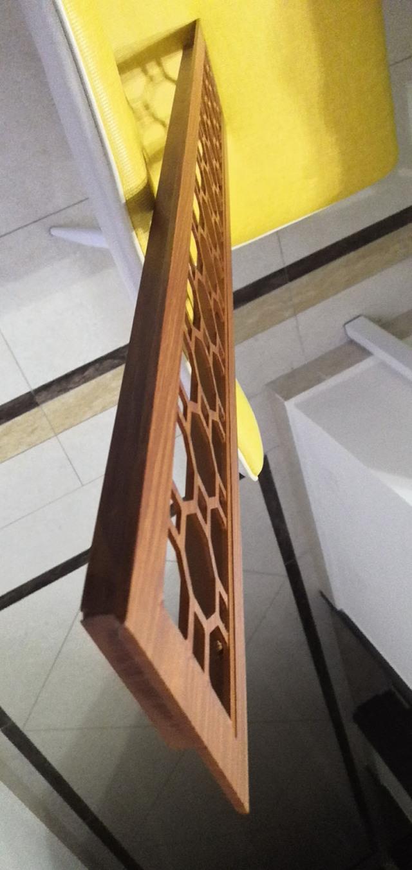 木紋色雕刻鏤空鋁合金出風口截面圖