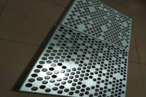 铝板冲六角形孔 六角形冲孔铝单板