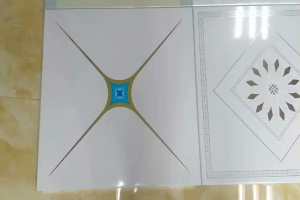 高光辊涂印花铝扣板