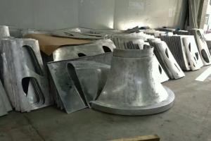 喇叭形包柱底座双曲铝单板