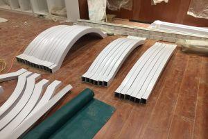 拉弯弧形铝方管拱桥