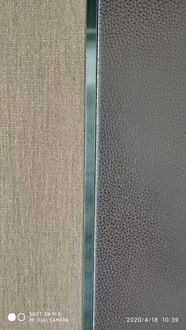 皮革和布匹复合锥心三维瓦楞板带T字装饰条