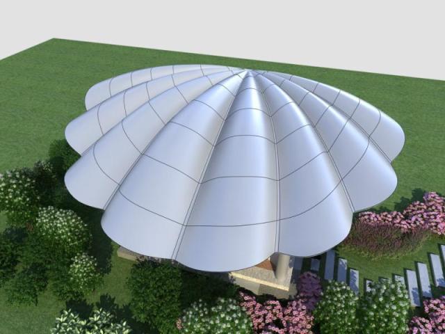 贝壳造型双曲铝单板天面
