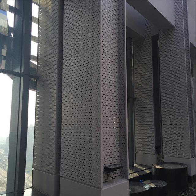 冲孔外墙铝包柱