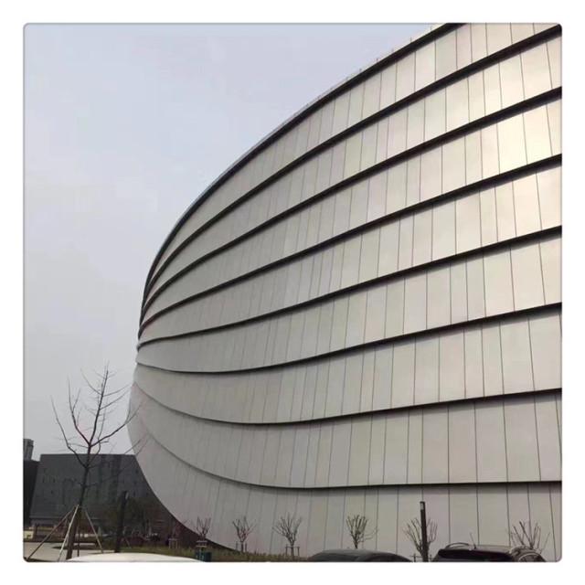 波浪形层叠外墙铝单板