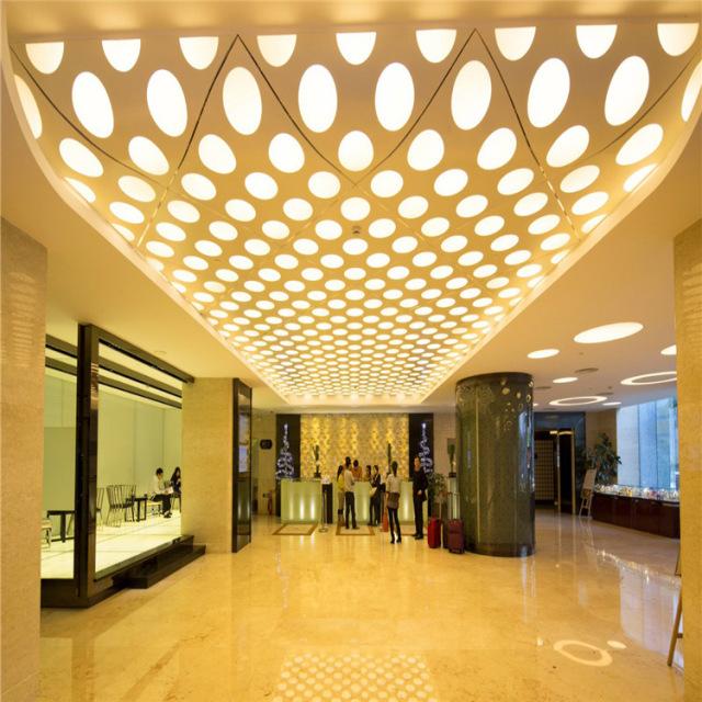 造型弧形鹅卵石形冲孔铝单板吊顶