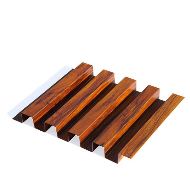 木纹色长城铝单板