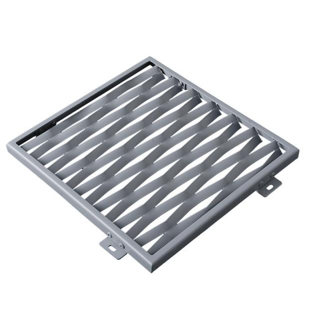 氟碳喷涂鱼鳞孔冲孔拉伸铝网板