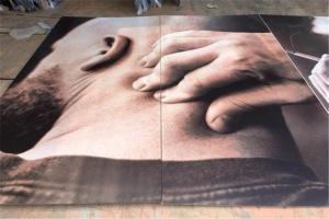 激光喷绘密拼铝单板喷高清人物头像