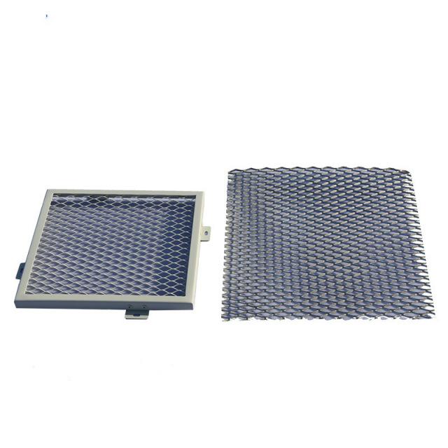 菱形冲孔铝拉网板