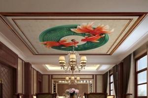 宴会厅印花图案吊顶铝扣板