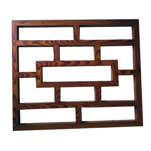 中式复古木纹铝合金花格