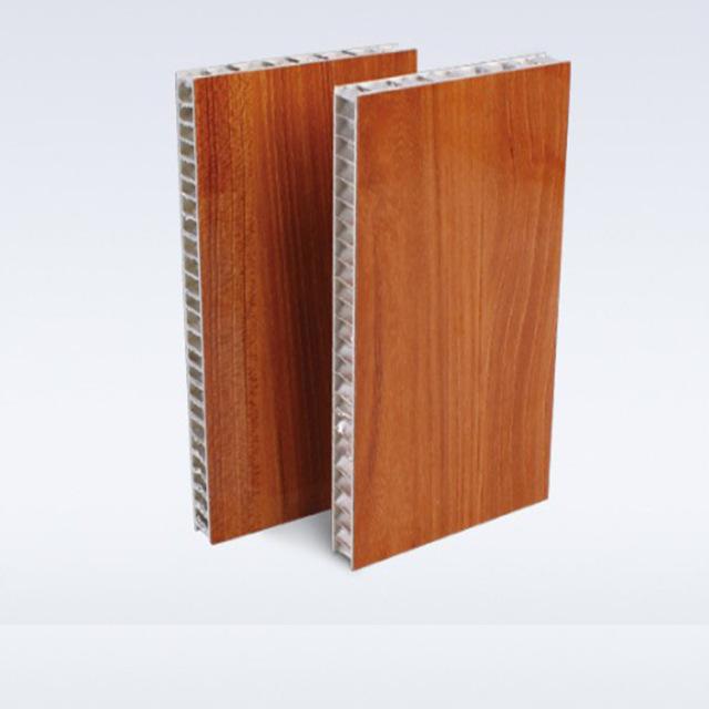 双面辊涂木纹铝蜂窝板