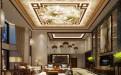 欧式风格别墅凹凸花纹二级吊顶铝扣板