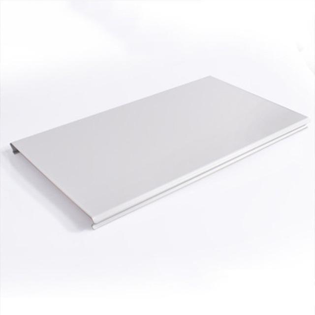 白色矮边100mm面宽C形铝条扣