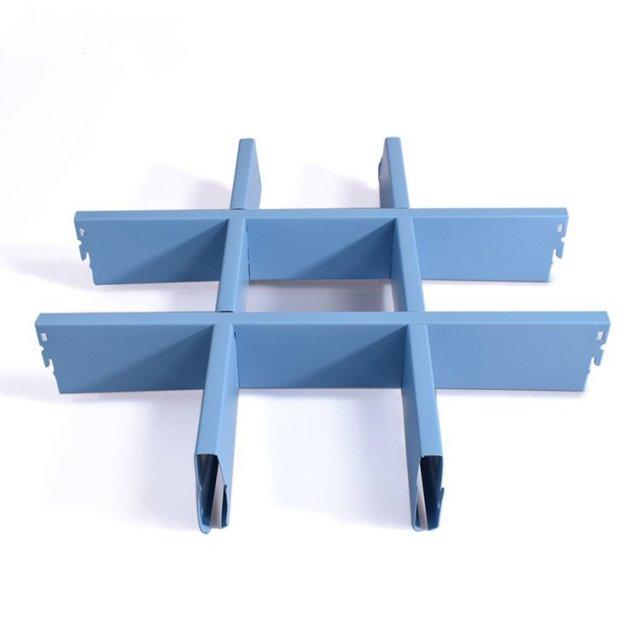 60*10浅蓝色铝格栅